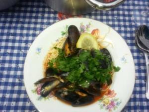 Muscheln auf dem Teller